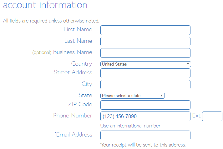 How to Buy a Domain Name - Step 5 - fill out your personal information